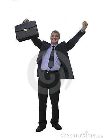Een gelukkige zakenman