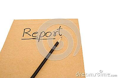 Een geschreven rapport.