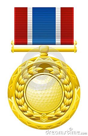 De medaille van het golf