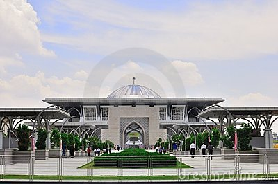 Een moskee in Maleisië Redactionele Stock Afbeelding