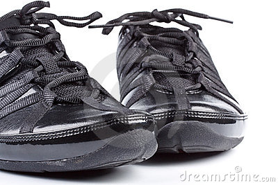 Een paar van het aanstoten van schoenen