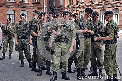 Een ploeg van Marine Redactionele Stock Foto