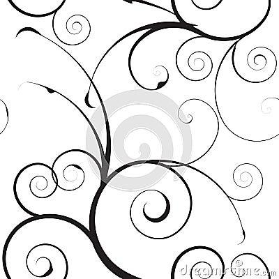 Eenvoudig mono bloemenpatroon