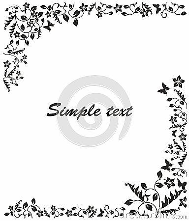 Eenvoudig zwart wit kader vector illustratie afbeelding 41334637 - Decoratie de la cuisine foto gratuit ...