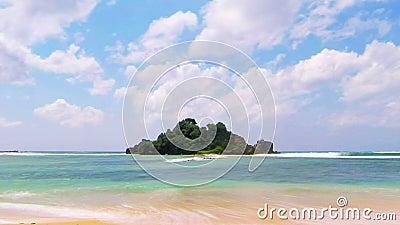 Eenzame eiland tijd-tijdspanne stock video