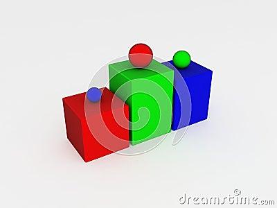 Eerst, tweede en derde plaats