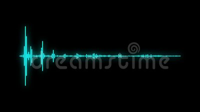 Efecto audio de la onda acústica del espectro de Digitaces metrajes