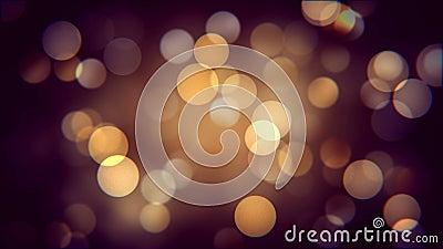 Efecto de oro del bokeh de la noche del otoño Movimiento propio borroso caliente de los sparcles almacen de metraje de vídeo
