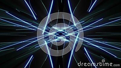 Effetto di fondo blu dei raggi laser video archivi video