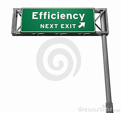 Efficiency Freeway Exit Sign