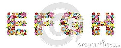 EFGH spring flowers