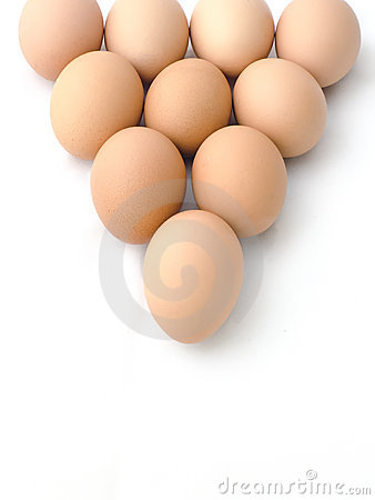 Egg arranged in triangle