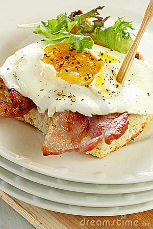 Egg and Bacon on Toast