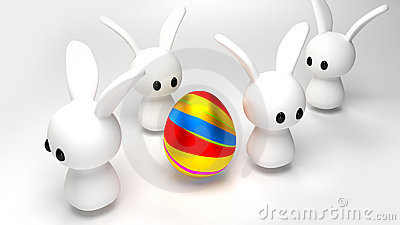 Egg and Bunnies