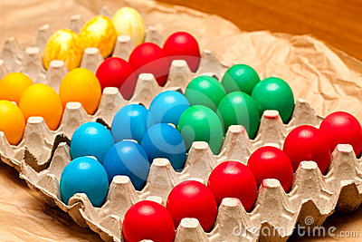 Egg Crate With Easter Eggs