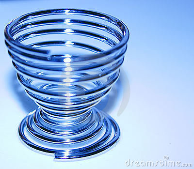Egg cup in blue Stock Photo