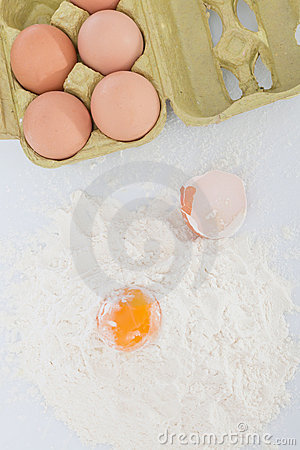 Egg and flour