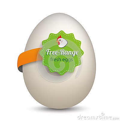 Free Egg Free Range Label Stock Photography - 68735412