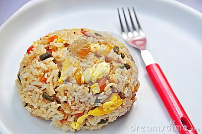 Egg fried rice,