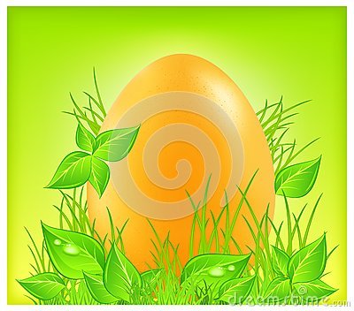 Egg on grass