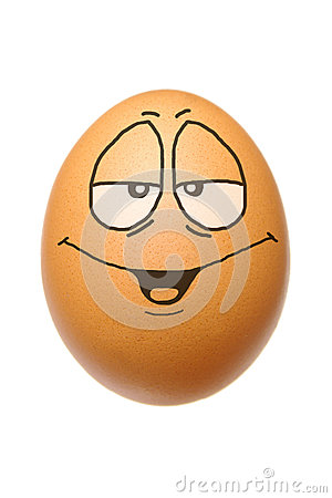 Egg with happy face