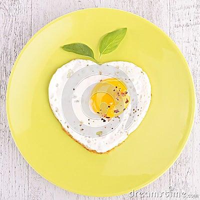 Egg heart shape