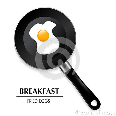 Free Egg In A Frying Pan A Breakfast 3D Fried Eggs Stock Images - 64758094