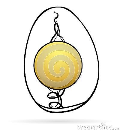Egg inside icon