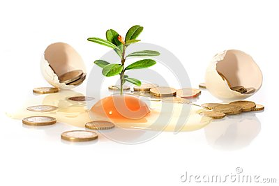 Egg and plant.
