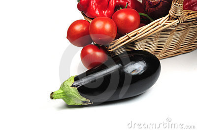 Egg plant and other vegetables
