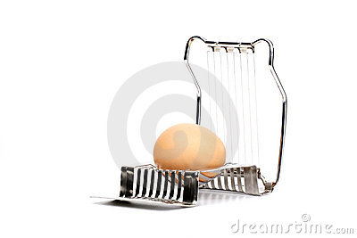 An Egg Ready to be Sliced