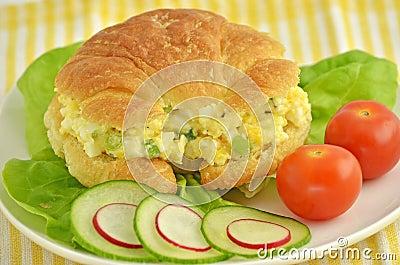 Egg salad croissant