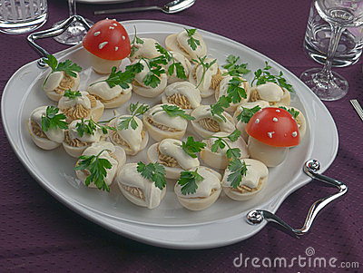 Egg salad with parsley and tomato