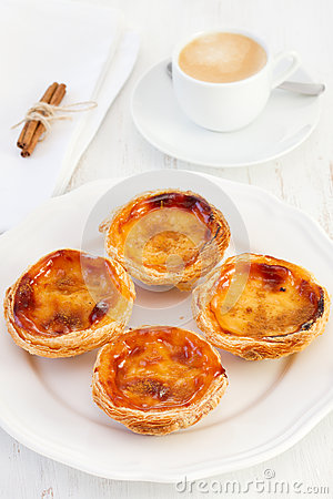 Egg tarts on the plate