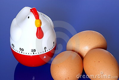 Egg timer and eggs