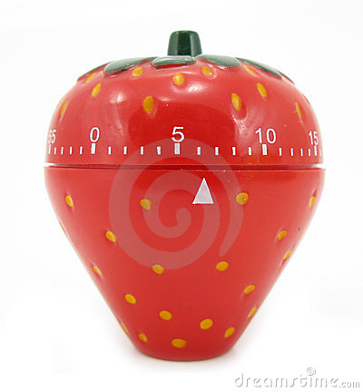 Egg timer kitchen strawberry