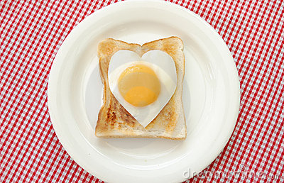 Egg and toasted bread