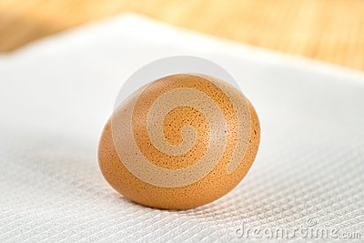 Egg on white napkin