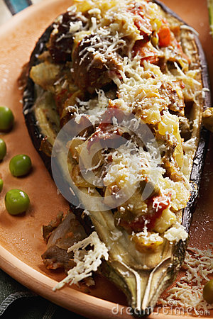 Eggplant Boat Closeup Stock Photo - Image: 58074193