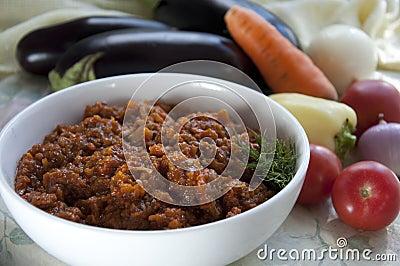 Eggplant caviar. Ukrainian cuisine