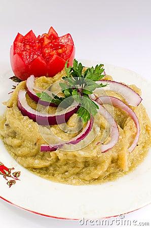 Eggplant salad - Romanian cuisine