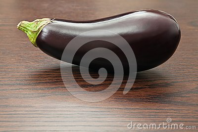 Eggplant on a table