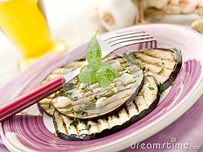 Eggplants grilled