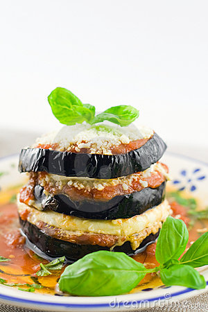 Free Eggplants Parmigiana Stock Photography - 21561352