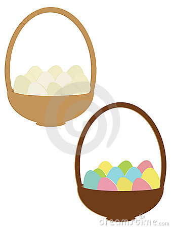 Eggs In A Basket Royalty Free Stock Image - Image: 12822376