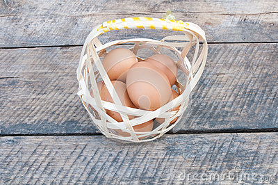 Eggs In Basket Stock Image - Image: 28935061