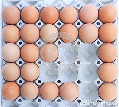 An eggs in block