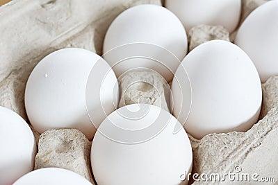 Eggs in cardboard crate