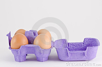 Eggs in the carton