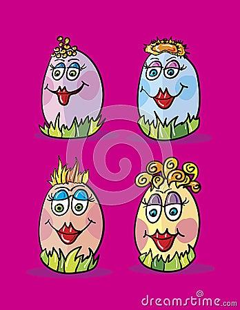 Eggs cartoon